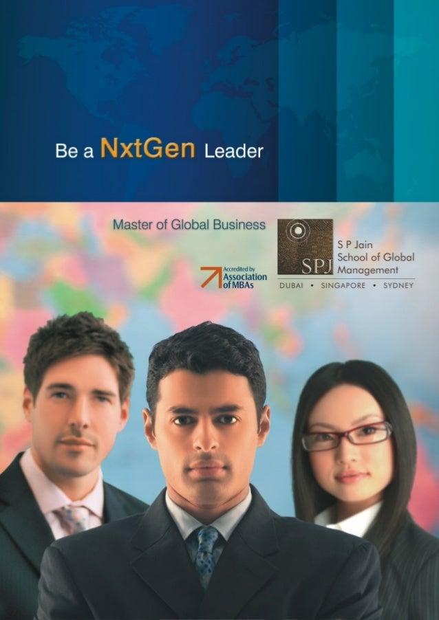 Master Of Global Business Programs In Australia - S P Jain School of Global Management