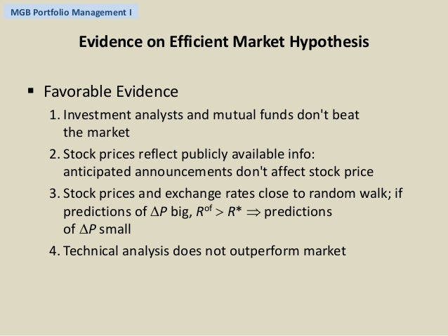 an analysis of the efficient market theory Efficient market hypothesis: strong, semi-strong,  the efficient market  if it is close enough that technical analysis or fundamental analysis won't.