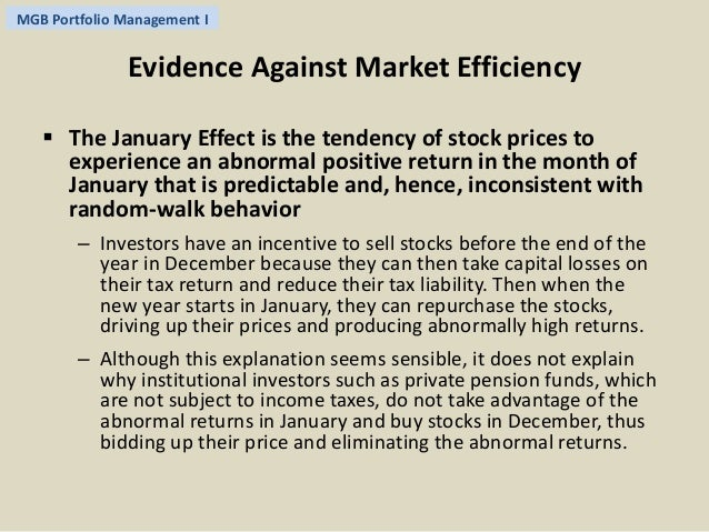 is the small firm january effect an anomaly The finance literature presents the size effect as an anomaly the same literature also suggests that small stocks are generally neglected by financial analysts.