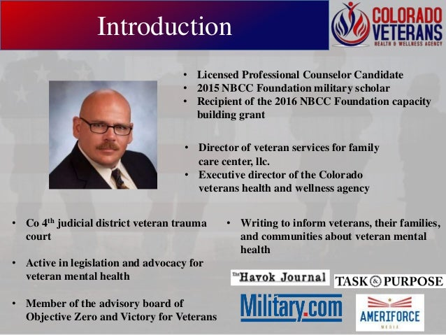Ethical Approaches & Competencies in Counseling the Military Community Slide 3