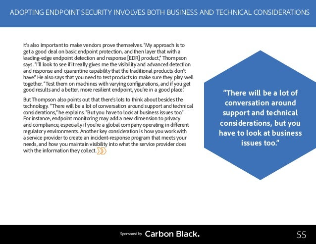 Carbon Black: 32 Security Experts on Changing Endpoint Security