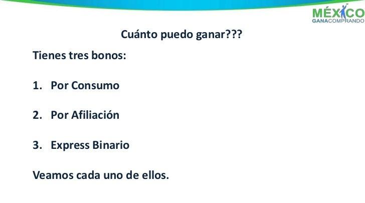Bono 1                                    Bono x Consumo         Requisitos:     1: Haber pagado tu Membresía (Depósito o ...