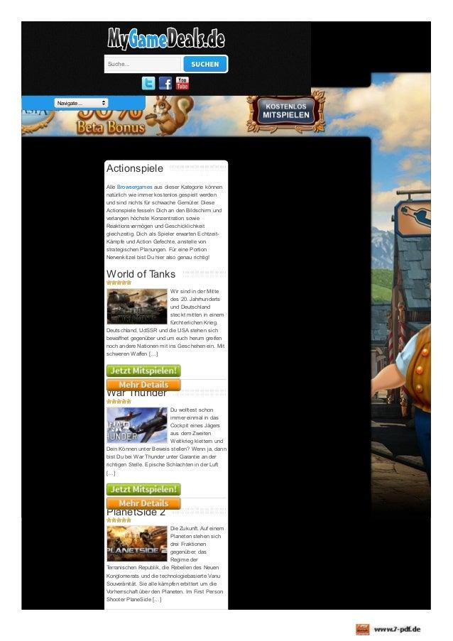 Suche...  Navigate...  Actionspiele Alle Browsergames aus dieser Kategorie können natürlich wie immer kostenlos gespielt w...