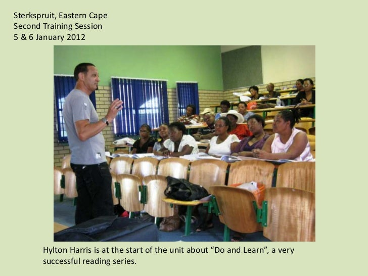 "Sterkspruit, Eastern CapeSecond Training Session5 & 6 January 2012       Hylton Harris is at the start of the unit about ""..."