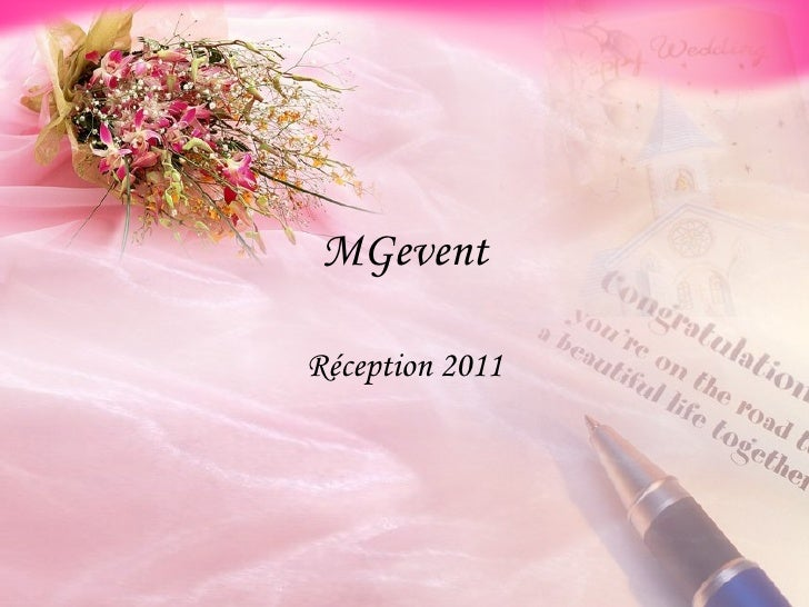 MGevent Réception 2011