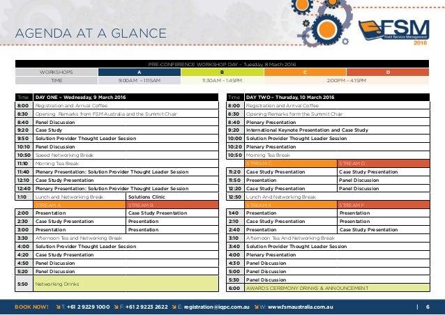 8th Annual Field Service Management Summit 2016 Agenda