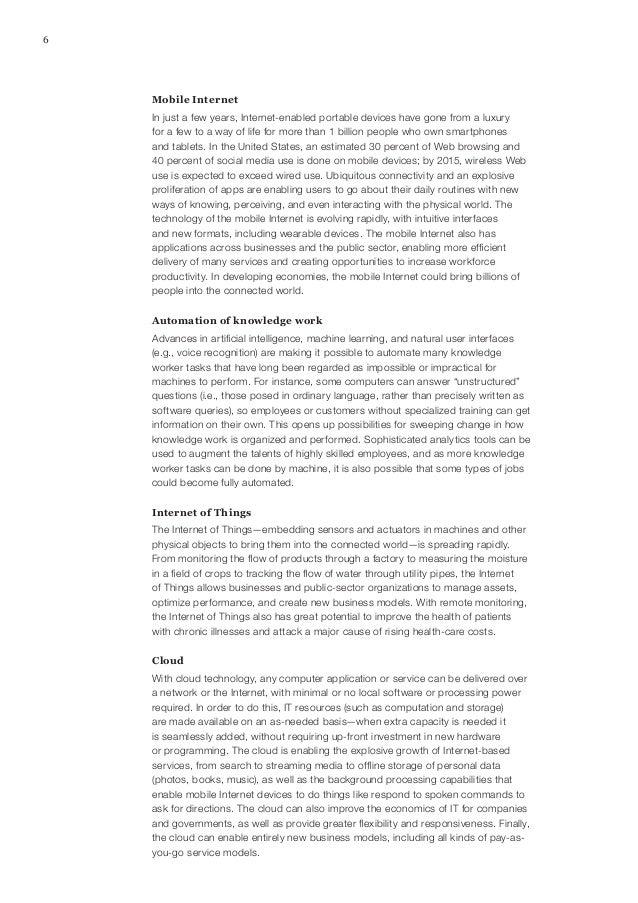 9Disruptive technologies: Advances that will transform life, business, and the global economyMcKinsey Global InstituteAdva...