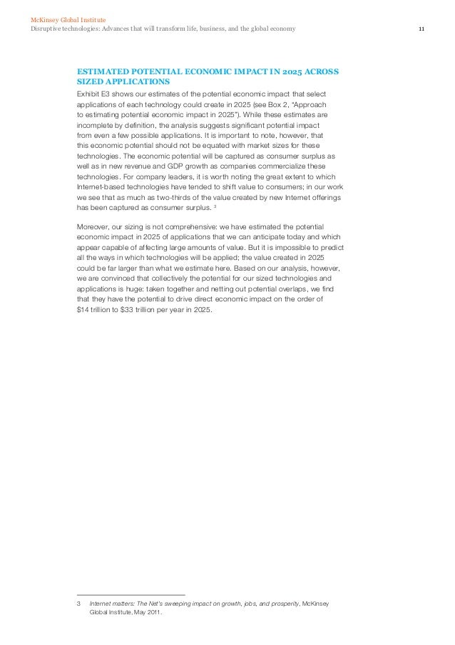 14SOME OBSERVATIONSWhile we evaluated each technology separately and sized their potentialeconomic impacts independently, ...