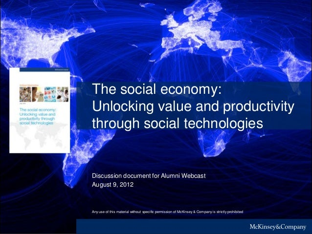 Any use of this material without specific permission of McKinsey & Company is strictly prohibitedThe social economy:Unlock...