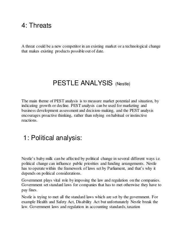 pestle analysis for nestle ghana limited