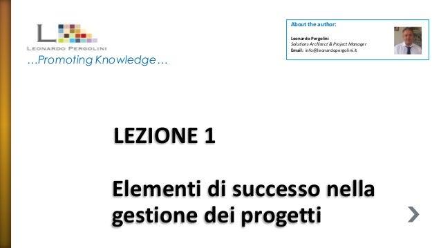 About the author:                             Leonardo Pergolini                             Solutions Architect & Project...