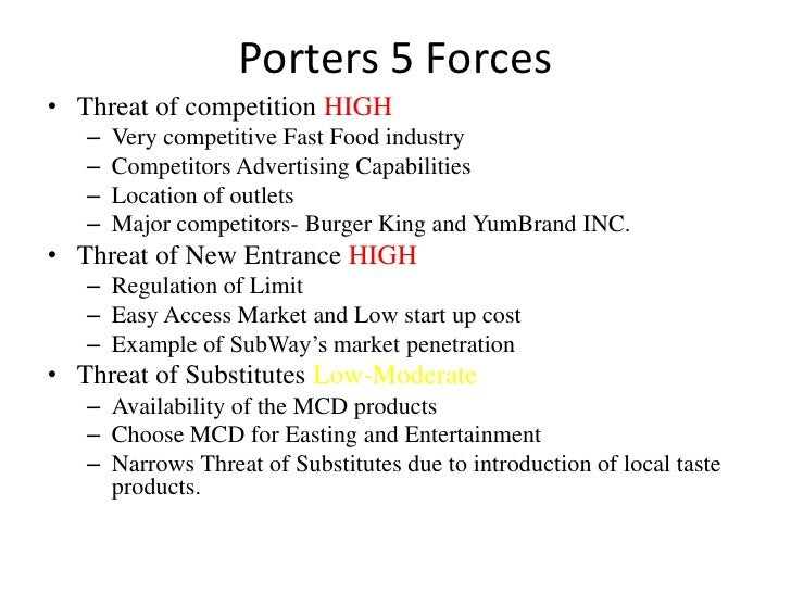 porter s five forces of kfc in malaysia Porter's competetive forces model on mcdonald furthermore the brands kfc and pizza hut are also represented in malaysia, every chinese new year, there will be a prosperity burger thereby they have found a way to differentiate.