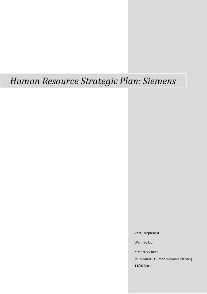 Mgmt4001 Siemens Group Project Graded – Siemens Site Planning