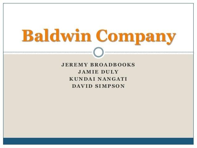 Baldwin capsim - College paper Sample - July 2019 - 2787 words