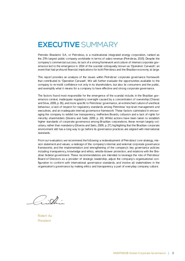 corporate governance analysis Corporate governance and risk: a study of board structure and the analysis uses key risk variables that relate to literature on corporate governance and risk.