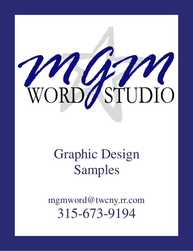 Graphic Design Samples mgmword@twcny.rr.com  315-673-9194
