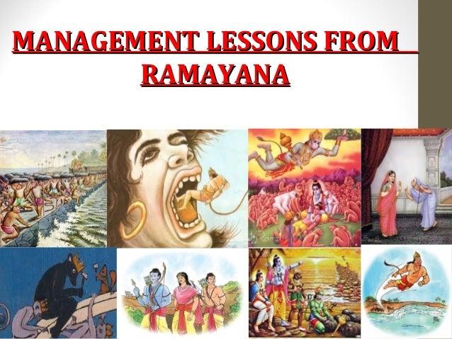 MANAGEMENT LESSONS FROMMANAGEMENT LESSONS FROM RAMAYANARAMAYANA
