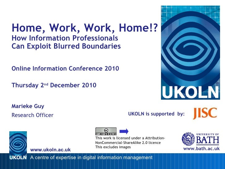 Home, Work, Work, Home!? How Information Professionals Can Exploit Blurred Boundaries