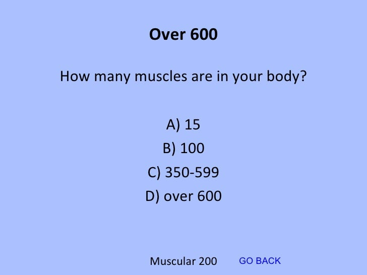 human body jeopardy board 1, Muscles
