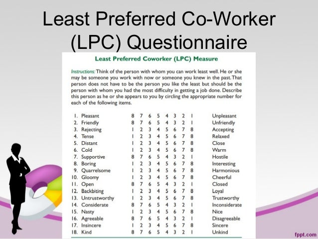 Least Preferred Co-Worker (LPC) Questionnaire