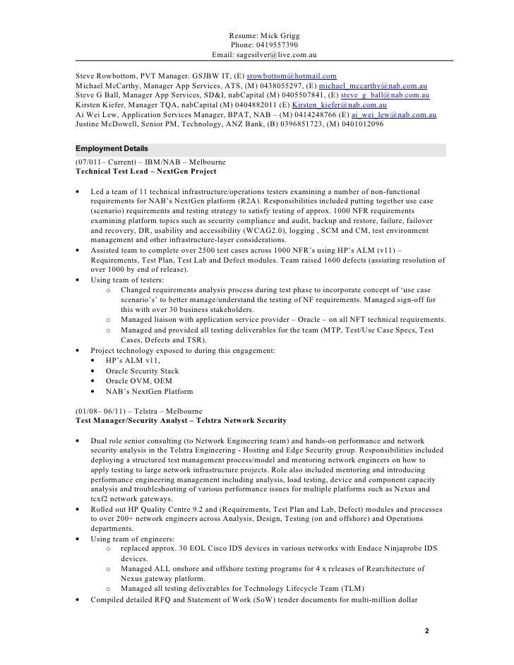Loadrunner Performance Testing Resume Sample Resume For ETL Testing Yrs  Teradata Developer Resume Etl Tester Resumes