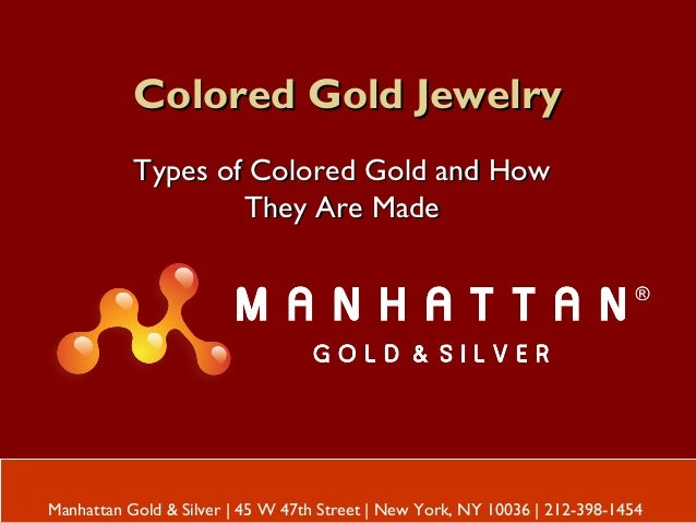 Colored Gold JewelryColored Gold Jewelry Types of Colored Gold and HowTypes of Colored Gold and How They Are MadeThey Are ...