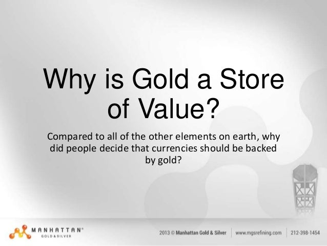 Image result for What is a store of value, is gold/silver a store of value
