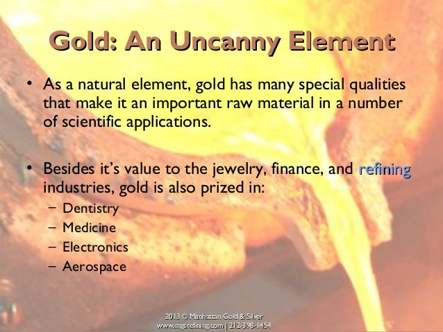 Uses of gold element