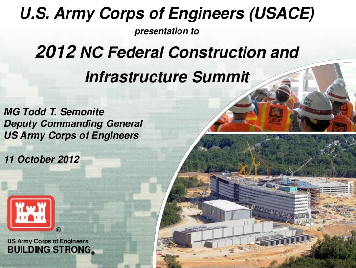 U.S. Army Corps of Engineers (USACE)                              presentation to        2012 NC Federal Construction and ...