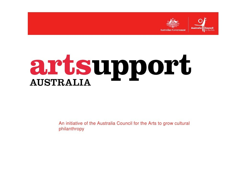 An initiative of the Australia Council for the Arts to grow cultural philanthropy
