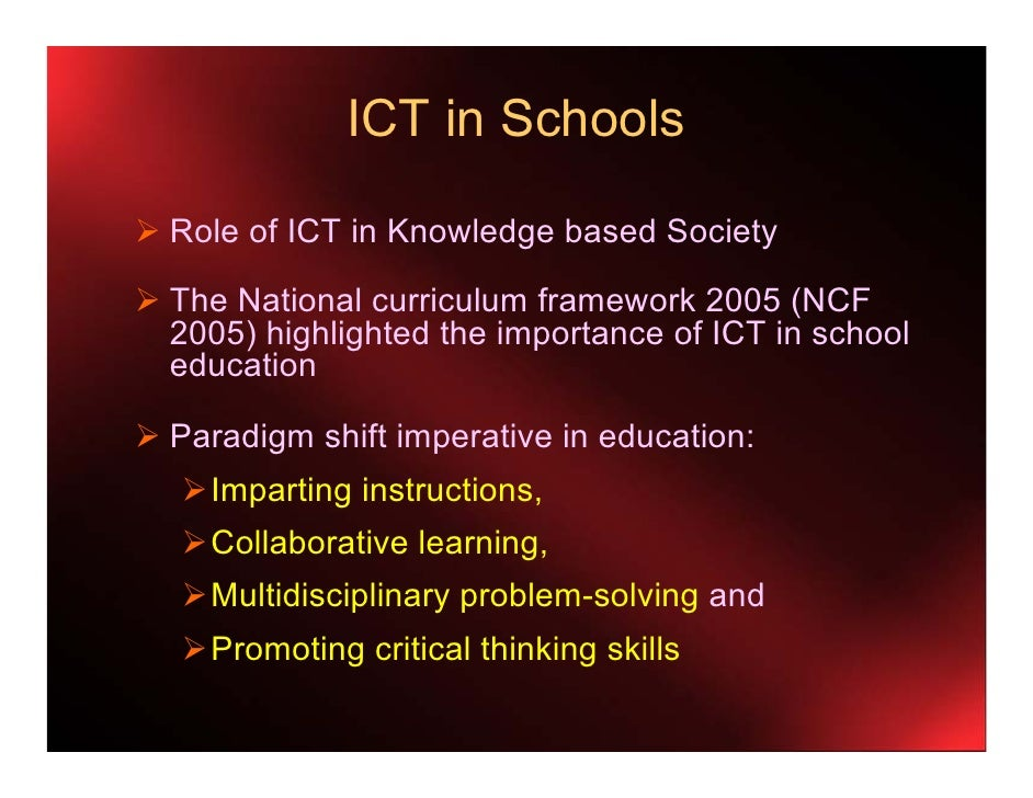 importance of ict in education (ijacsa) international journal of advanced computer science and applications, vol 3, no2, 2012 136 | p a g e wwwijacsathesaiorg the role of ict in education: focus on university.