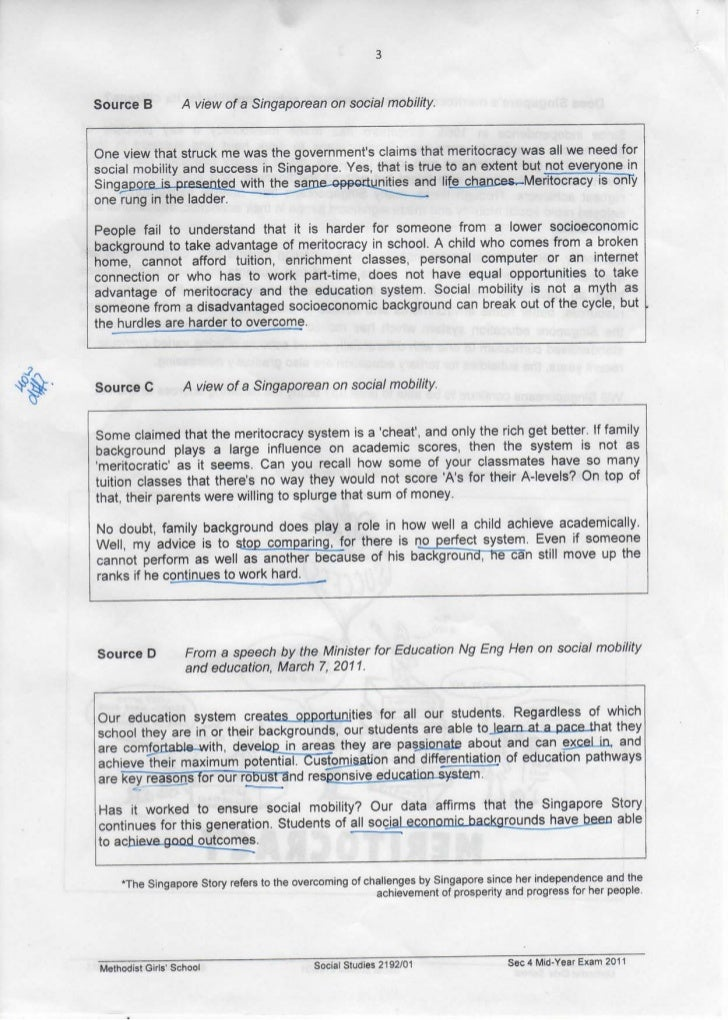 MGS Social Studies Mid-Year Exam Paper