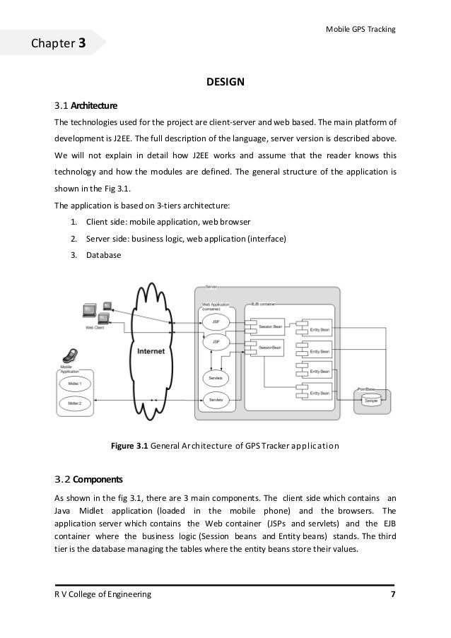 Mobile GPS TrackingChapter 3                                             DESIGN   3.1 Architecture   The technologies used...