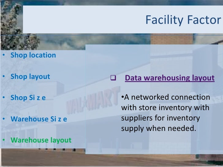 operation management of walmart Will examine how wal-mart the north american born retail giant consider the role  of  supply chain management monitoring wal-mart (asda).