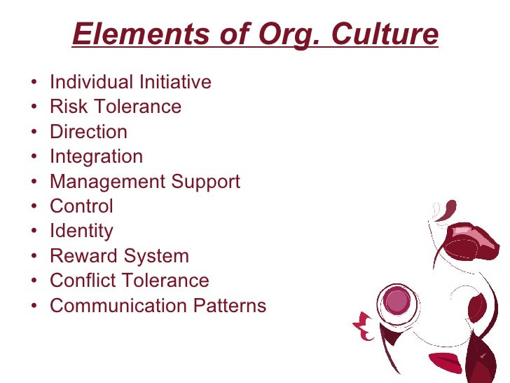 organisational culture and ways of managing In this lesson, you will learn what organizational culture is and how it dictates behavior in organizations you'll also explore the seven values.