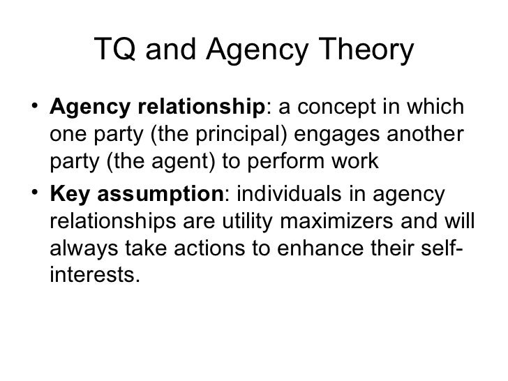 concept of agency theory