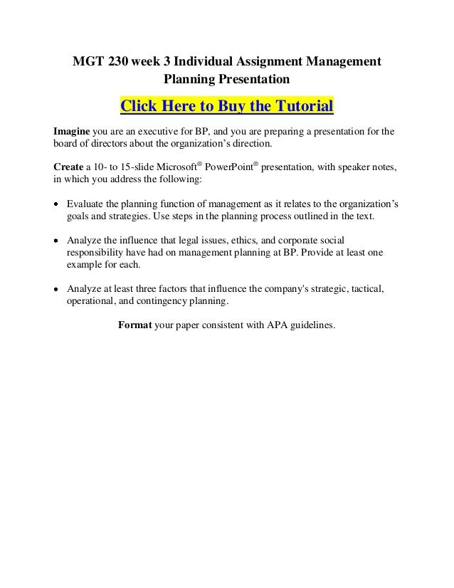 mgt 230 organizational plans paper week 3 Mgt 521 week 3 structure follows strategy – team buy solutions:   mgt 521 week 3 structure follows strategy – team mgt 521 week 3 structure follows stra.