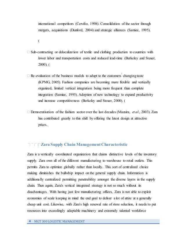 Zara case study strategic management