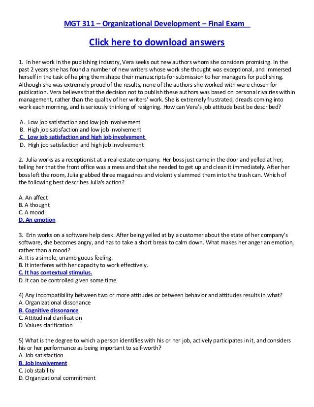 BUS209: Organizational Behavior
