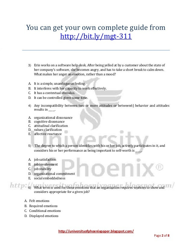 mtg 311 final exam phoenix university We provide various homework help that you will find easy to understand we also provide uop final exam, entire course questions with answers and law, finance, economics and accounting homework help, discussion questions, homework assignment etc join us to be straight 'a' student.