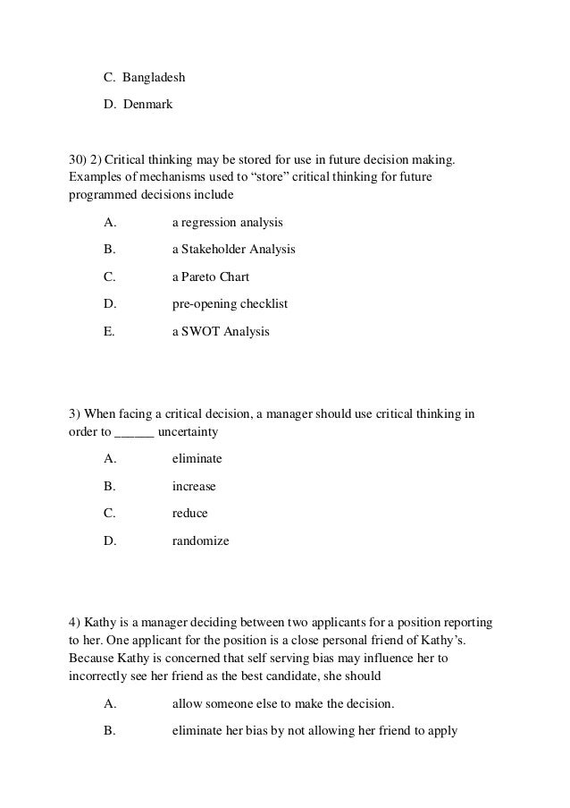 Mgt 350 week 1 critical thinking application paper