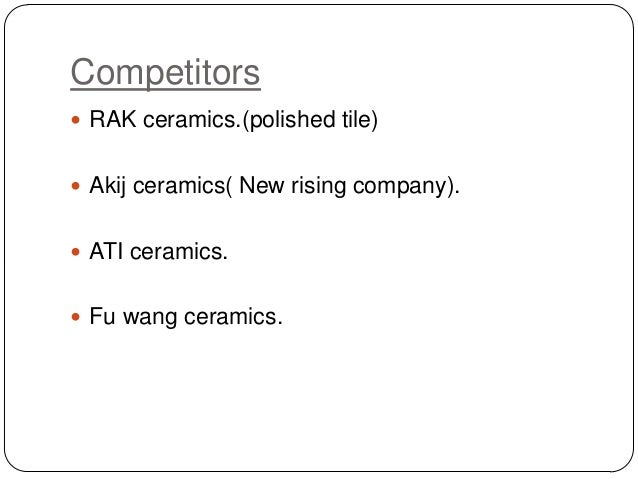 Business plan for ceramic company
