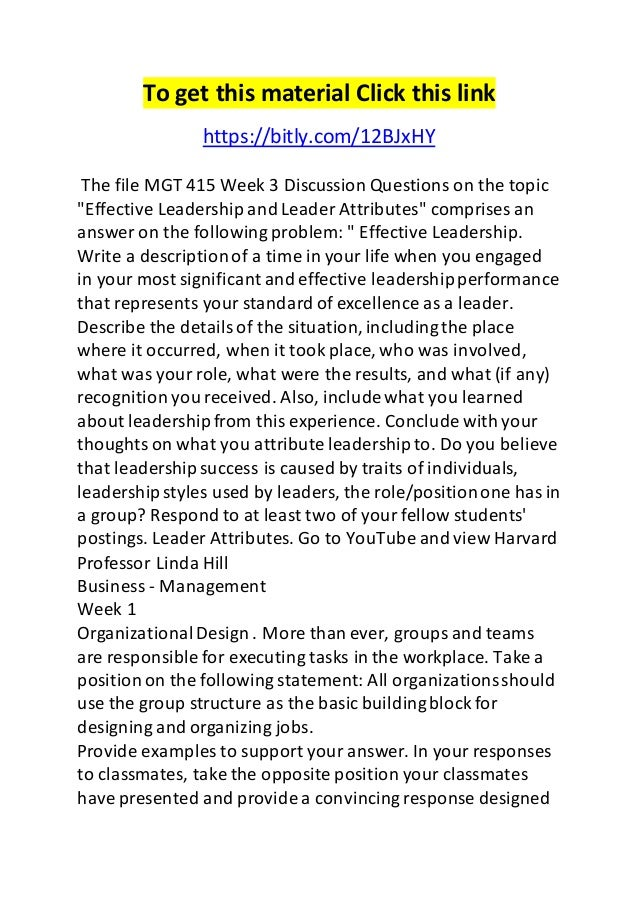 week three bus415 discussion questions It's the fourth and final week of the random house reader's circle for the everygirl we've enjoyed hearing your feelings, reactions and thoughts to melanie gideon's wife 22 now that we've all finished the book, any topic is up for discussion no need to worry about spoilers we've posted some questions.