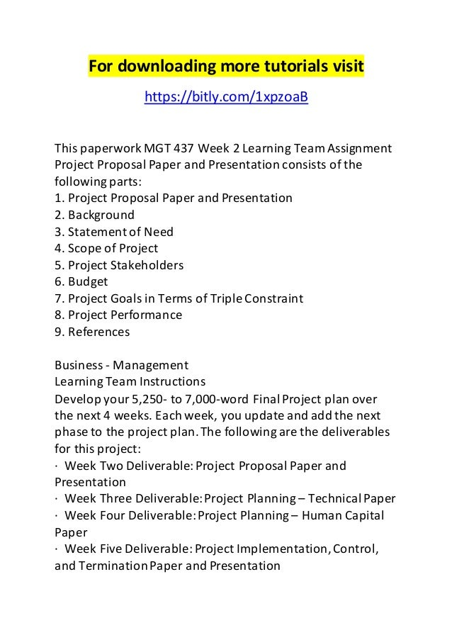 Examples of Project Teams