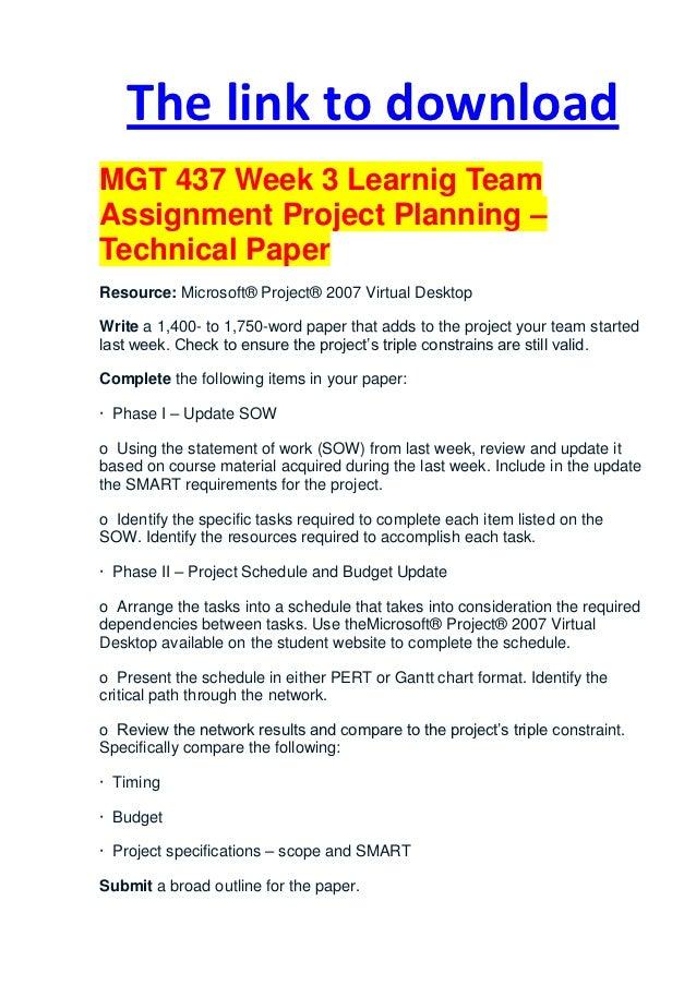 MGT 437 Week 3