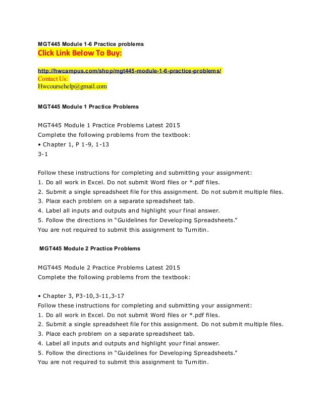 Mgt445 Module 1 6 Practice Problems