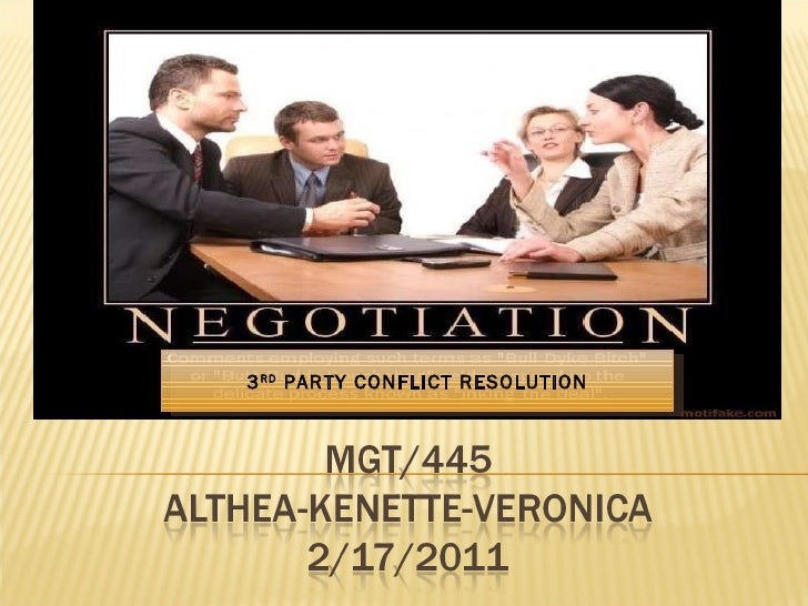 3 RD  PARTY CONFLICT RESOLUTION