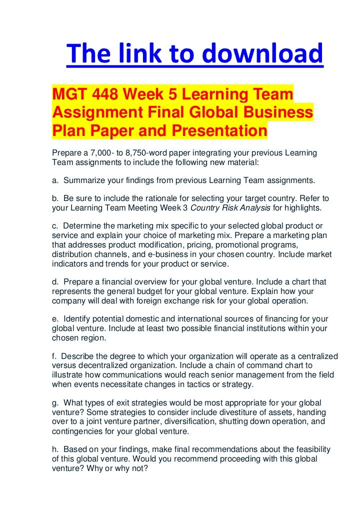 global marketing plan template