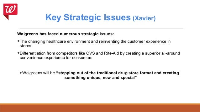 A swot analysis of walgreens in the competitive pharmacy marketplace
