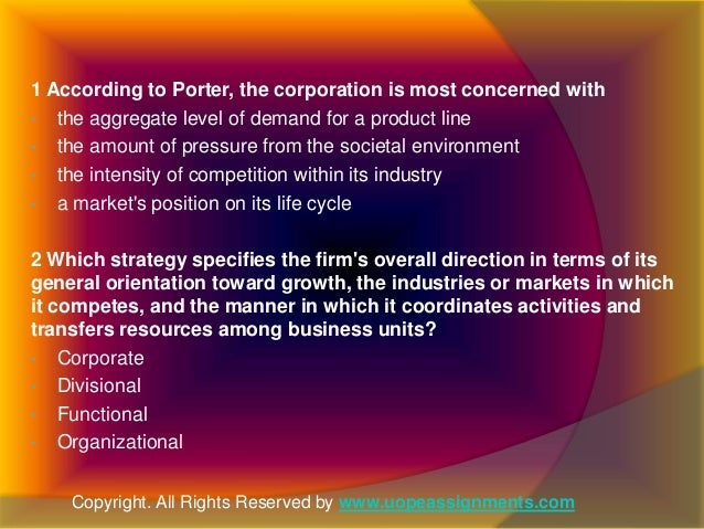 which strategy specifies the firm s overall direction in terms of its general orientation toward gro In submitting this sixth report on its compliance with the  supporting processes in terms of standard, strategy and  s activities in general,.